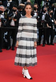 Lyna Khoudru wore Chanel  at 74° Cannes International Film festival - photo by Pascal Le Segretain