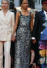 Mati Diop wore Chanel  at 74° Cannes International Film festival - photo by Pascal Le Segretain