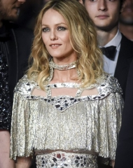 Vanessa Paradis wore Chanel .  Movie cast at the Premiere ph by Stephane Cardinale - Corbis