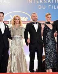 Nicolas Maury, Vanessa Paradis, Kate Moran, Yann Gonzalez, John Phillips, Jonathan Genet  wore Bottega Veneta at the 71st Cannes International Film Festival . ph by Nicholas Hunt