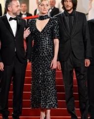 "Kate Moran ""Chanel"", Yann Gonzalez,  Jonathan Genet  wore Bottega Veneta at the 71st Cannes International Film Festival . ph by Nicholas Hunt"