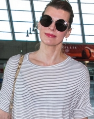 Milla Jovovich wore Bottega Veneta at the Cannes Film Festival 2018  . ph by Marc Piasecki