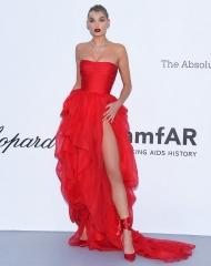 Elsa Hosk wore Ermanno Scervino. at amfAR 25th Cinema AIDS . 71st Cannes International Film Festival