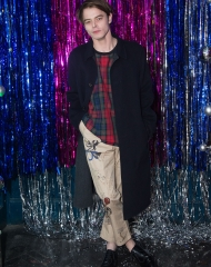 London: Charlie Heaton at the Burberry for Cara Delevingne Christmas Party, London (Photo by Kirstin Sinclair/Getty Images for Burberry)