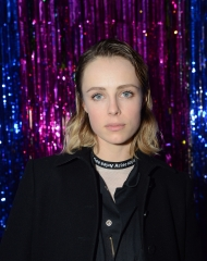 London: Edie Campbell at the Burberry x Cara Delevingne Christmas Party at the Burberry for Cara Delevingne Christmas Party, London (Photo by Kirstin Sinclair/Getty Images for Burberry)