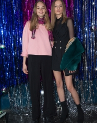London: Florence Clapcott and Hebe Flury at the Burberry x Cara Delevingne Christmas Party at the Burberry for Cara Delevingne Christmas Party, London (Photo by Kirstin Sinclair/Getty Images for Burberry)