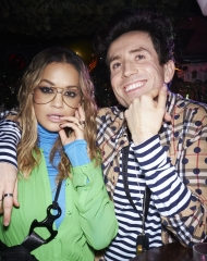 Rita Ora and Nick Grimshawat the Burberry x Cara Delevingne Christmas Party at the Burberry for Cara Delevingne Christmas Party, London (Photo by Kirstin Sinclair/Getty Images for Burberry)