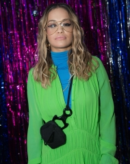 Rita Ora at the Burberry x Cara Delevingne Christmas Party at the Burberry for Cara Delevingne Christmas Party, London (Photo by Kirstin Sinclair/Getty Images for Burberry)