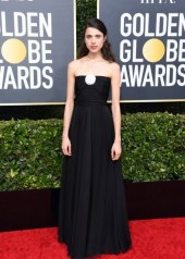 Margaret Qually wore Chanel at 77th Golden Globe Awards . photo © by Jon Kopaloff