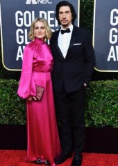 Phoebe Waller & Adam Driver * Adam Driver  wore Burberry to the 77th Golden Globe Awards
