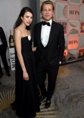 Brad Pitt and Margaret Qualley in Chanel