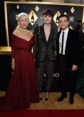 Helen Mirren wore Christian Dior Haute Couture . Helen Mirren wore Christian Dior Haute Couture . Phoebe Waller-Bridge wore Ralph & Russo Couture . Rami Male