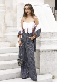 Chloe Wise wore Chanel at Chanel Haute Couture Fall Winter 2021/22 - photo by Julien Hékimian