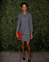 Letitia Wright attend the CHANEL & Charles Finch pre-Bafta Dinner
