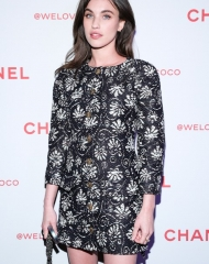 Rainey Qualley We Love Coco Event (ph. By Zack Whitford/BFA.com)