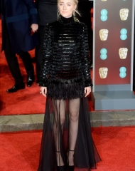 Saoirse Ronan in Chanel . EE British Academy Film Awards Nominees Party (ph. by Dave J Hogan)