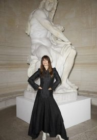 Caroline de Maigret wore Chanel at Chanel Haute Couture Fall Winter 2021/22 - photo by Benoit Peverell