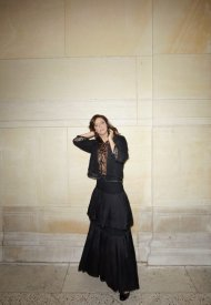 Anna Mouglalis wore Chanel at Chanel Haute Couture Fall Winter 2021/22 - photo by Benoit Peverell