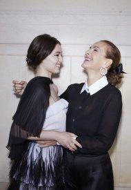 Anamaria Vartolomei and Carole BouquetChanel at Chanel Haute Couture Fall Winter 2021/22