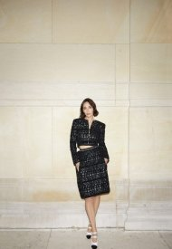 Rebecca Dayan wore Chanel at Chanel Haute Couture Fall Winter 2021/22 - photo by Benoit Peverell