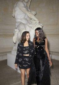 Lyna Khoudri & Karidja Tourewore Chanel at Chanel Haute Couture Fall Winter 2021/22 - photo by Benoit Peverell
