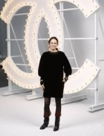 Anne Berest in Chanel at Chanel Spring Summer 2021 catwalk