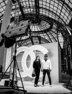 SebastienTellier & Amandine de la Richardière special guests at Chanel Spring Summer 2021 catwalk