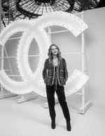 Vanessa Paradis in Chanel - special guests at Chanel Spring Summer 2021 catwalk