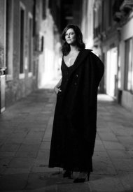 Anna Mouglalis wore Chanel at the Chanel dinner during the 78th Venice International Film Festival .  photo by Virgile Guinard