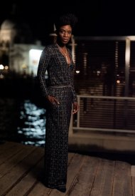 Sharon Ducan wore Chanel at the Chanel dinner during the 78th Venice International Film Festival .  photo by Virgile Guinard