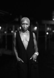 Cynthia Erivo wore Chanel at the Chanel dinner during the 78th Venice International Film Festival .  photo by Virgile Guinard