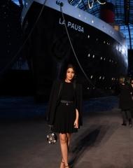 Leila Bekhti Chanel 2018-19 Cruise Collectionin Paris . ph by Pascal Le Segretain