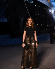 attends the Chanel Cruise 2018/2019 Collection at Le Grand Palais on May 3, 2018 in Paris, France.