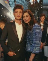 Niels Schneider, Anna Mouglalis Chanel 2018-19 Cruise Collectionin Paris .
