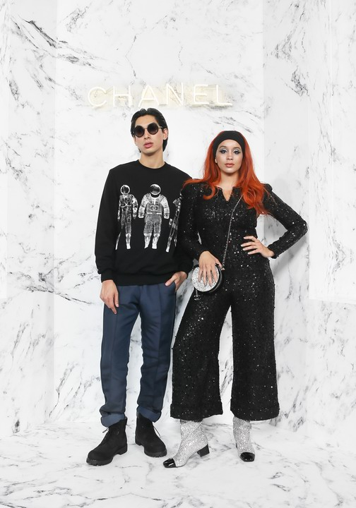 Lion Babe Wearing Chanel of Cruise 2017-18 show in Chengdu