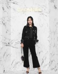 Bai Bai He 白百何 Wearing Chanel of Cruise 2017-18 show in Chengdu