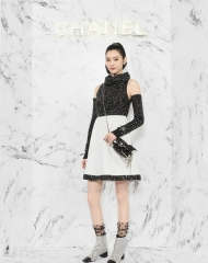 Ming Xi 奚梦瑶 Wearing Chanel of Cruise 2017-18 show in Chengdu