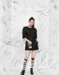 Ouyang Nana 歐陽娜 Wearing Chanel of Cruise 2017-18 show in Chengdu