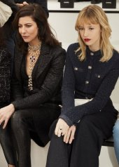 Angèle & Anna Mouglalis special guests at Chanel Fashion Show FW2021