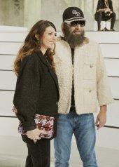 Amandine de la Richardiere & Sebastien Tellier special guests at Chanel Fashion Show FW2021