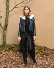 Angela Lindvall attends the Chanel show as part of the Paris Fashion Week Womenswear Fall/Winter 2018/2019