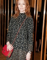 Audrey Marnay wearing CHANEL at the V Magazine dinner in honor of Karl Lagerfeld in NYC