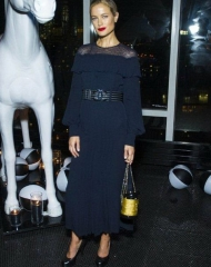 Carolyn Murphy wearing CHANEL at the V Magazine dinner in honor of Karl Lagerfeld in NYC
