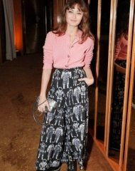 Ella Purnell wearing CHANEL at the V Magazine dinner in honor of Karl Lagerfeld in NYC