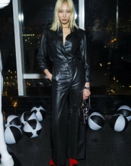 Soojoo Park wearing CHANEL at the V Magazine dinner in honor of Karl Lagerfeld in NYC