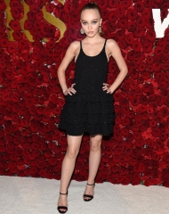 Lily Rose Depp wearing Chanel at WWD Honors event in New York - Photo by Kevin Mazur