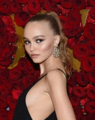 Lily Rose Depp wearing Chanel at WWD Honors event in New York