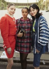 Kristine Froseth, Taylor Russell Nana Komatsu in Chanel Spring Summer 2020 Haute Couture