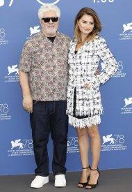 Penelope Cruz and and Pedro Almodóvar at 78h Venice International Film Festival . photo by P. Lehman