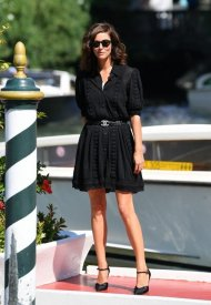 Anna Mouglalis wore Chanel at the 78th Venice International photo by Jacopo Raule